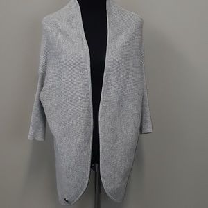 Moshiki gray one size open front cardigan